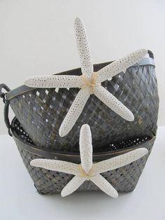 Beach Wedding Starfish Basket by PinkPelicanDesigns on Etsy, $26.00