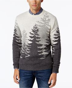 Club Room Men's Big and Tall Treeline Sweater, Only at Macy's - Sweaters - Men - Macy's