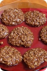 Mississippi Mud Cookies : What you need: 1/2 cup milk 2 cups sugar Peanut Butter 3 tbsp. cocoa powder (unsweet) 1/2 cup butter 3 cups rolled oats 1 teaspoon vanilla extract ( FAST AND EASY NO BAKE COOKIES!!)