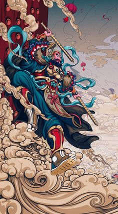 Illustrations Discover Billy Wu Illustrations of the new year illustration unknown size and date I Phone 7 Wallpaper Pop Art Wallpaper Art And Illustration Illustrations And Posters Art Pop Fantasy Kunst Fantasy Art Anime Kunst Anime Art I Phone 7 Wallpaper, Pop Art Wallpaper, Japanese Artwork, Japanese Tattoo Art, Japanese Prints, Arte Assassins Creed, Samurai Artwork, Japon Illustration, Art Pop