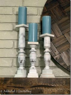 Staircase Spindle Candlesticks