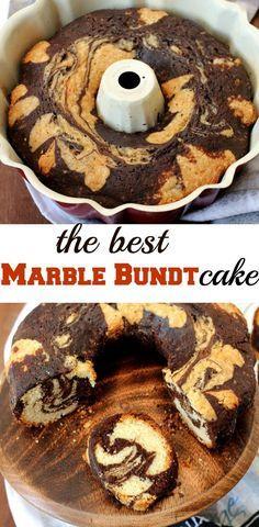 Marble Bundt Cake Recipe - the best bundt cake I have ever baked. Sinfully good! www.sailusfood.com