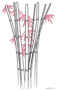 cartoon bamboo tree drawing | How to Draw Bamboo