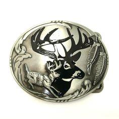 Sika Deer Belt Buckle Tin Alloy Classic Western Cowboy