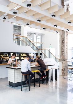 Paramount Coffee in Sydney's newly restored Paramount House. Photo by Phu Tang I Featuring Tait Stripe stools and Jak chairs