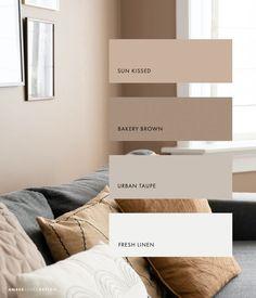 Room Ideas Bedroom, Home Decor Bedroom, Home Living Room, Living Room Decor, Beige Living Rooms, Home Room Design, Home Interior Design, Color Interior, Brown Interior