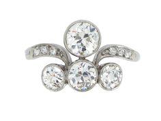 Belle Époque diamond ring, circa 1905. from Berganza London Hatton Garden