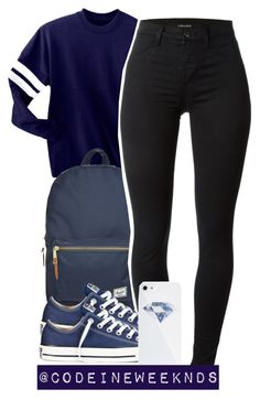 """""""10:5:15"""" by codeineweeknds ❤ liked on Polyvore featuring Herschel Supply Co., J Brand, Converse and BlissfulCASE"""
