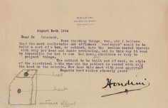 WILD ABOUT HARRY: Houdini Margery letters sell for $25,000
