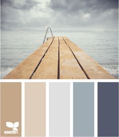 Docked Tones - my special palette of blue gray and mushroom. Love this palette for a bedroom. Wall Colors, House Colors, Paint Colors, Colours, Floor Colors, Paint Schemes, Colour Schemes, Color Combos, Colour Palettes