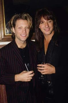 "Jon Bon Jovi & Richie Sambora circa 1992 - ""Keep The Faith"" era"