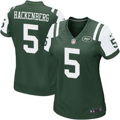 Women's Nike New York Jets #5 Christian Hackenberg Game Green Team Color NFL Jersey
