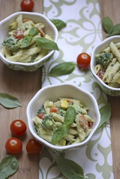 Vegan Penne Primavera with Avocado Cashew Cream from the vegan cookbook Nut Butter Universe