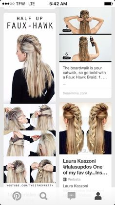 Haarschmuck Diy - Getting this done today! Haarschmuck Diy - Getting this done today! # how to do viking Braids Haarschmuck Diy - Getting this done today! Hair Jewelry For Braids, Braids For Long Hair, Faux Hawk Braid, Faux Mohawk, Mohawk Braid, Braids Band, Braids Cornrows, Diy Braids, Wedding Hairstyles
