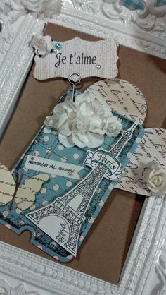 Shabby Chic Tags Paris Tags Scrapbooking Tags by GoldenNestStudio, $4.95