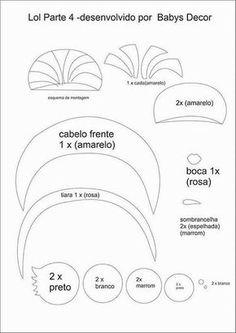 Boneca de feltro moldes grátis Baixar molde grátis de Boneca de feltro