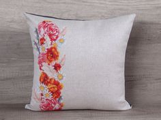 pillowcase summer pillows flower pillow cover floral pillow cover cross-stitch embroidery needlepoint pillows 16 x 16 pillow, 40 x 40 cm