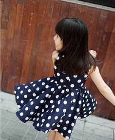 Retail 2013 New Cotton Fashion Dresses for Girls Summer with Polka Dots Bow 2 Colors 2~11 Age Children Clothing,Free Shipping from Reliable Girls Summer Dresses suppliers on Missing You