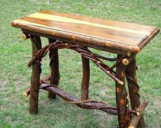Rustic Elegance- Quality Handmade twig willow furniture by EverythingWillowSC Willow Furniture, Rustic Furniture, Rustic Console Tables, Stainless Steel Nails, Rustic Elegance, Miniture Things, Hardwood, 40 Years, Wood Working