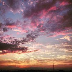 夕焼け(^^) #空 #夕空 #夕焼け #雲 #japan #sky #sunset #cloud