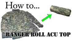 Army Packing Hack: How to Ranger Roll Your Jacket - Folding Uniform for Basic Training
