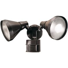 """Heath Zenith SL-5412-BZ-D 300-Watt Motion-Sensing Twin Security Light, Bronze by Heath Zenith. $29.53. Amazon.com                Heath Zenith's SL-5412 bundles a motion sensor and a two-light floodlight in a single package. Unlike most motion-activated security lights, this one features """"pulse count"""" technology that reduces the number of times that lamps are triggered due to wind and rain. The sensor has a range of up to 70 feet and includes a selectable light tim..."""