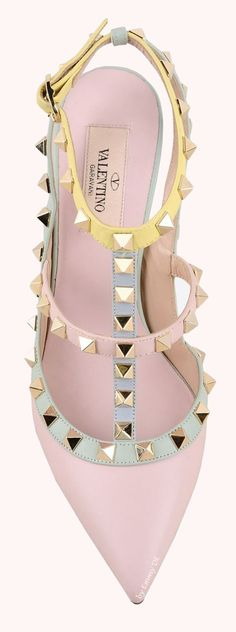 Brilliant Luxury by Emmy DE * Valentino Watercolor Rockstud Ankle Strap SS 2015