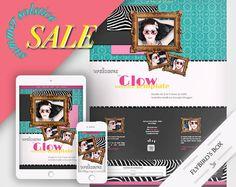 Responsive Blogger Template Glow  Blogger theme by FlyBirdBranding