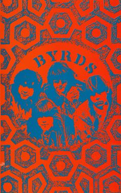 The Byrds classic rock psychedelic concert poster