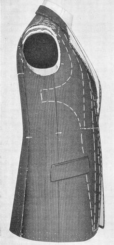 The Rundschau System for Lounge Coats - The Coatmaker's Forum - The Cutter and Tailor Coat Patterns, Clothing Patterns, Sewing Patterns, Tailoring Techniques, Sewing Techniques, Tactical Suit, Pattern Draping, Bespoke Tailoring, Pattern Cutting