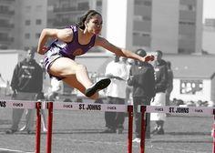 New free stock photo of woman jumping sport via Pexels https://www.pexels.com/photo/woman-in-purple-tank-top-run-olympics-games-159745/