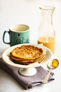 Malaysian Banana Pancakes with Lemon Coconut Curd