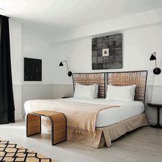 Modern rattan bed