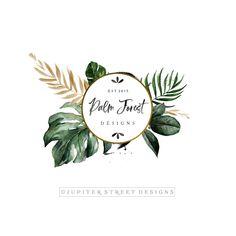 Premade Logo-Modern Logo-Logo Design-Fern Logo-Palm Logo-Nature Logo-Tree Logo-B. Self Branding, Logo Branding, Branding Design, Brand Identity Design, Corporate Branding, Packaging Design, Photography Packaging, Logos Photography, Best Logo Design