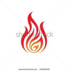 Fire - vector logo concept illustration. Flame logo sign. Dangerous sign. Fire lines vector illustration. Fire tattoo illustration. Flame tattoo illustration. Vector logo template. Design element.