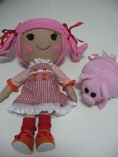 A boneca Lalaloopsy em nova versão,feita em tecido