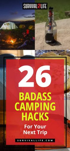 Camping Haacks | 26 Badass Camping Hacks For Your Next Trip