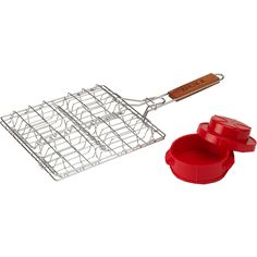 Bull Outdoor Products - 24226 Bull BBQ Stuff-A-Burger Basket and Press