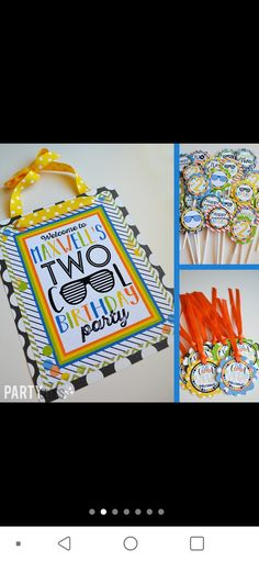 2nd Birthday Boys, Cool Doors, Door Signs, Party Ideas, Decor, Decoration, Ideas Party, Decorating, Deco