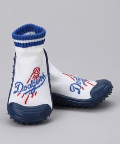 This Los Angeles Dodgers Gripper Shoe -  Kids by Skidders is perfect! #zulilyfinds