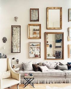 High Ceiling #Mirrors #SoftTones #Elegant #Boho - Architecture and Home Decor - Bedroom - Bathroom - Kitchen And Living Room Interior Design Decorating Ideas - #architecture #design #interiordesign #homedesign #architect #architectural #homedecor #realestate #contemporaryart #inspiration #creative #decor #decoration