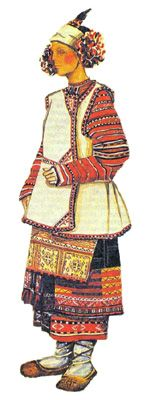 Traditional Russian Costume, X century Shirt Under Dress, Folk Costume, Costumes, Russian Folk Art, Small Scarf, Form Crochet, Medieval Clothing, Russian Fashion, Traditional Outfits