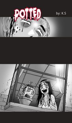 Silent Horror :: Potted | Tapastic Comics - image 1 Silent Horror Comics, Creepy Comics, Creepy Horror, Horror Art, Creepy Stories, Horror Stories, Unbelievable Pictures, Creepy History, Divas