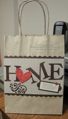 Stampin' & Scrappin' with Stasia: Homemade House Warming Gift Bag