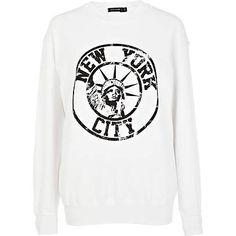 White New York city print sweatshirt - sweaters / hoodies - t shirts / vests / sweats - women