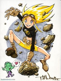 Video tutorial: Coloring Terra from Teen Titans by Copic comic artist Todd Nauck