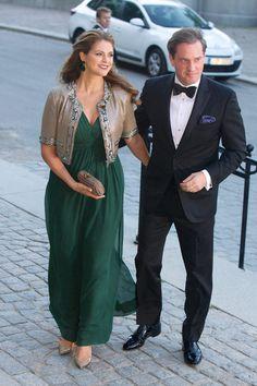 Princess Madeleine - Swedish Government Dinner To Celebrate King Carl Gustaf's 40th Jubilee