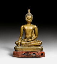 A fine bronze figure of the seated Buddha. Thailand, 15th century. Height 85 cm. Estimate CHF 40,000 / 60,000 (€ 33,330 / 49,990). Photo Koller