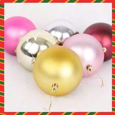 10CM Colorful Christmas Ball Christmas Tree Decoration 6Pcs/Lot