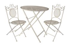 One Kings Lane - The Outdoor Life - 3-Piece Folding Bistro Set, White